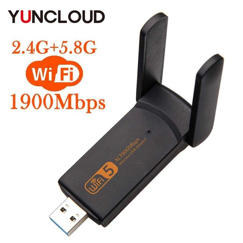 Blue-Ocean-11-600Mbps Wireless Mini USB Adapter 600M Network Card Wifi Receiver 2.4//5.8G Dual Band for Windows XP//Vista//7//8//10//Mac OS