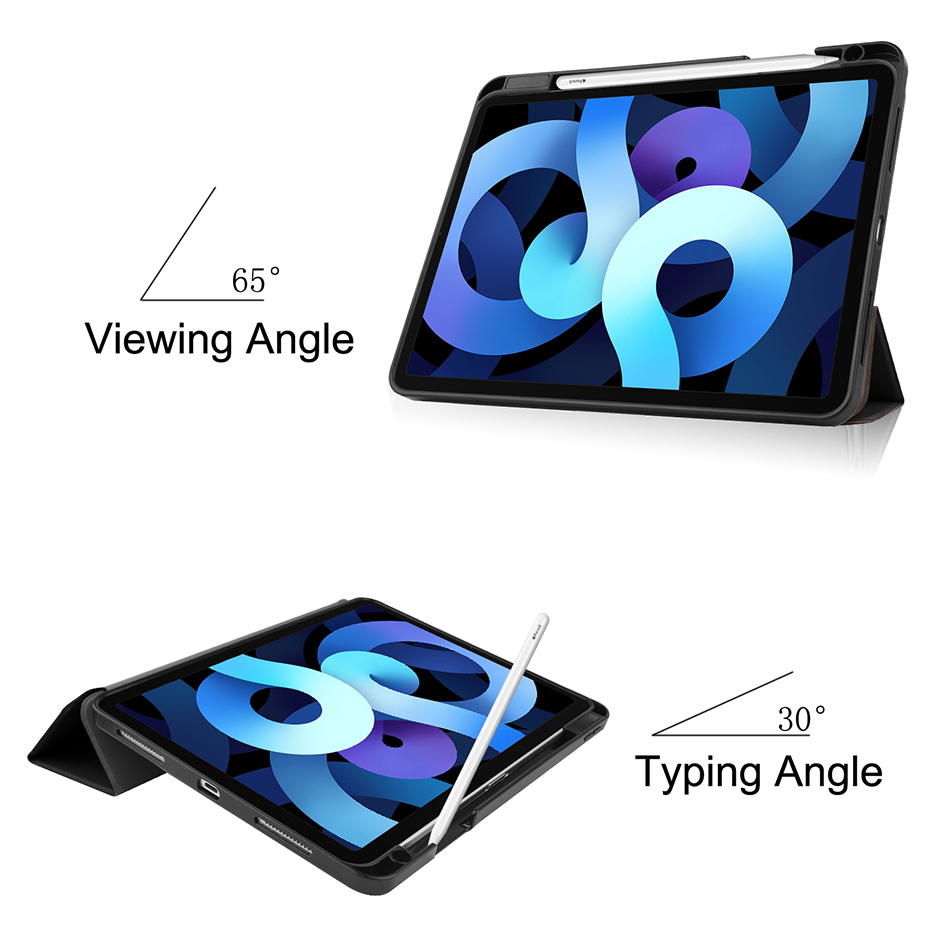 MTT 2020 Case For iPad Air 4th Generation 10 9 inch Soft TPU PU Leather Flip