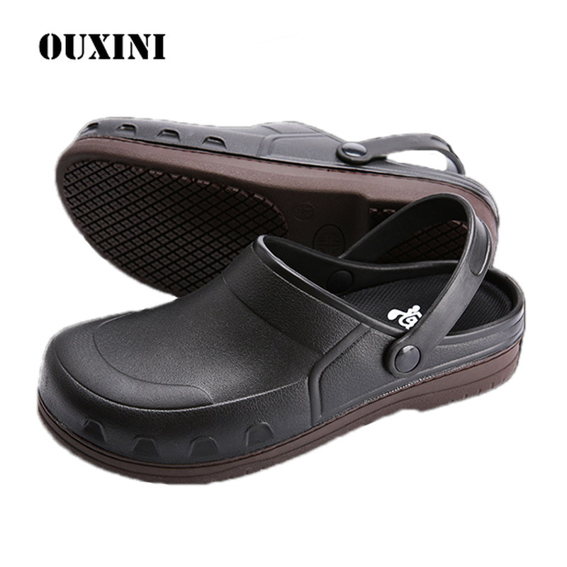 Men's Chef Shoes Non-Slip Catering Cook Working Shoes Hotel  waiter shoes Hospital Doctor Nurse Medical Shoes chef kitchen shoes