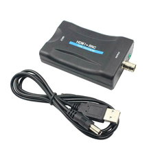 Mini HDMI To BNC Video Converter Composite Signal Adapter VHS DVD Player PAL/NTSC
