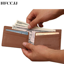 цена на NEW PU Leather Men Wallet Brand Luxury Leather Wallets Office Male Wallet Mature Man Bifold Wallet Small Purse Carteira HC177