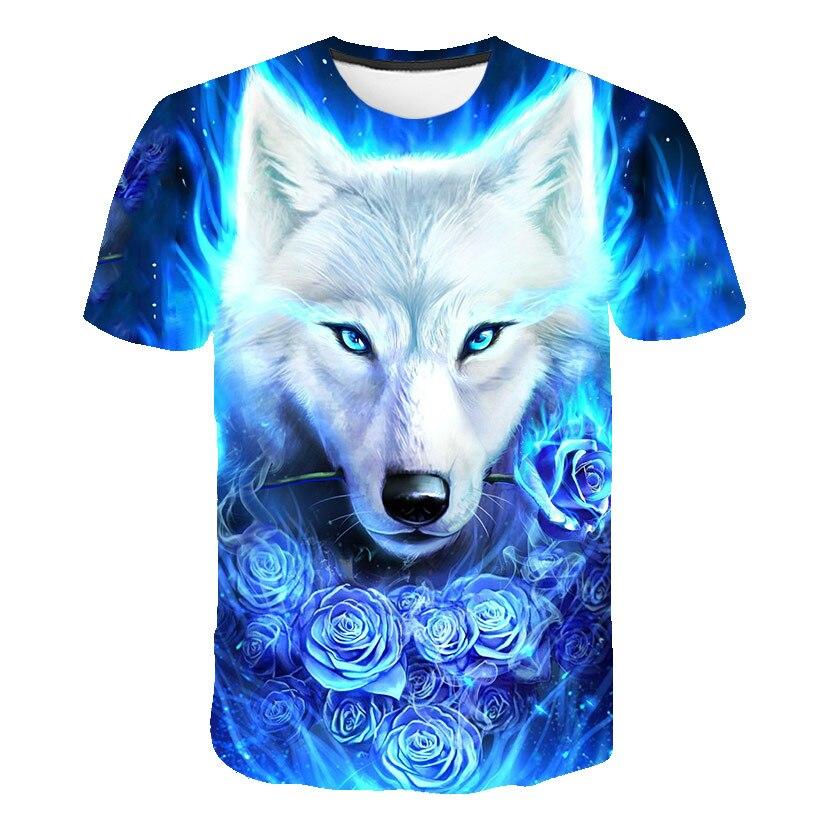 3D Wolf Summer Men Women Casual Fashion T-Shirt 2019 New Customizable 3D Pattern T-Shirt Motion Tops Elegant Men T-Shirt