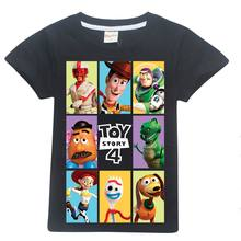100%cotton Toy story cartoon baby boys T-shirt minecraft roblox 2019 summer top kids blouse clothes Clothing toddler girl shirts(China)