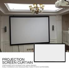 цена на 16:9 Portable Foldable Projector Screen Wall Mounted Home Cinema Theater 3D HD Projection Screen Canvas