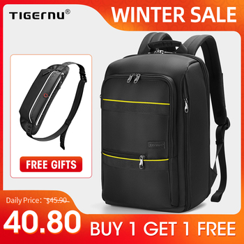 Tigernu Backpack Men Casual Waterproof Laptop Bag School Bags For Teenager Male Travel Luggage High Quality Sport Backpacks - discount item  55% OFF Backpacks