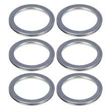 6pcs Auto Replacement Parts Oil Drain Plug Crush Washer Gasket Set 16mm 803916010 For Subaru 2011-18 Car Gaskets(China)
