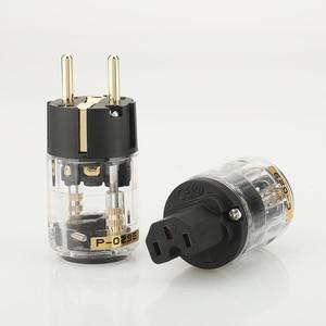 Image 1 - 1 pair  Hifi audio P 029E  C 029 EUR Schuko power cable Extension  plug