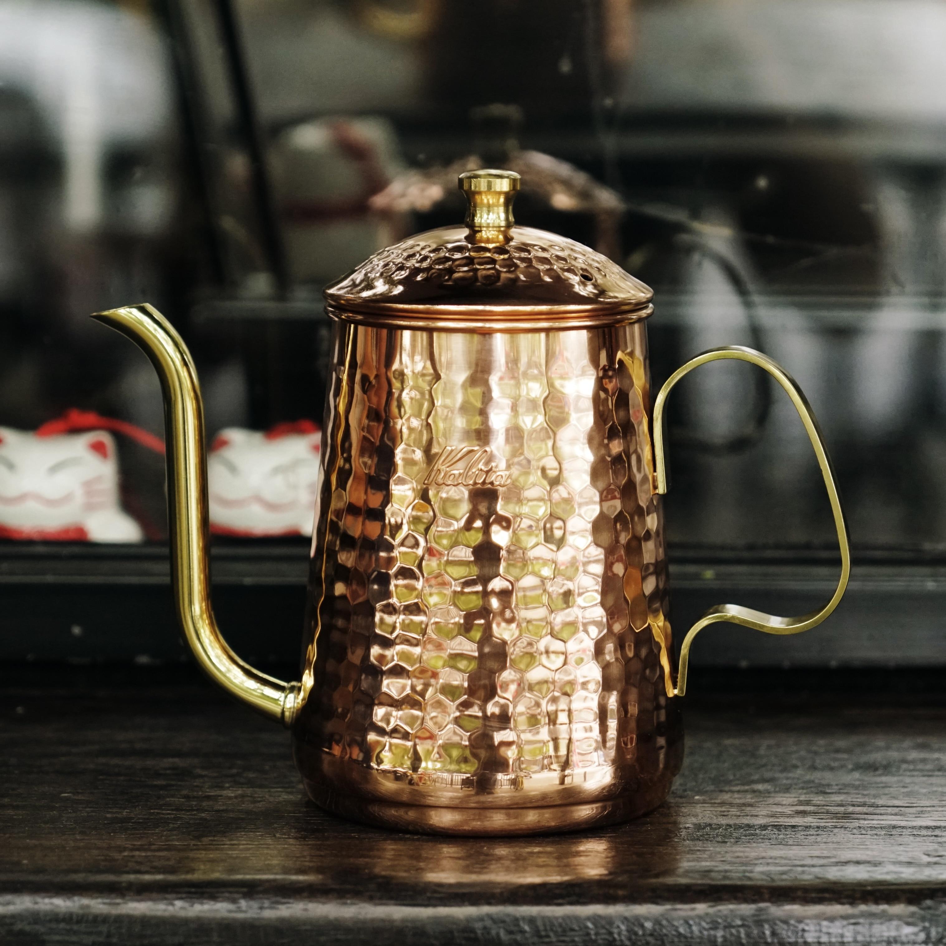Японский Калита медный кофе капельница горшок ретро медный чайник классический японский ручной молоток шаблон кофейник
