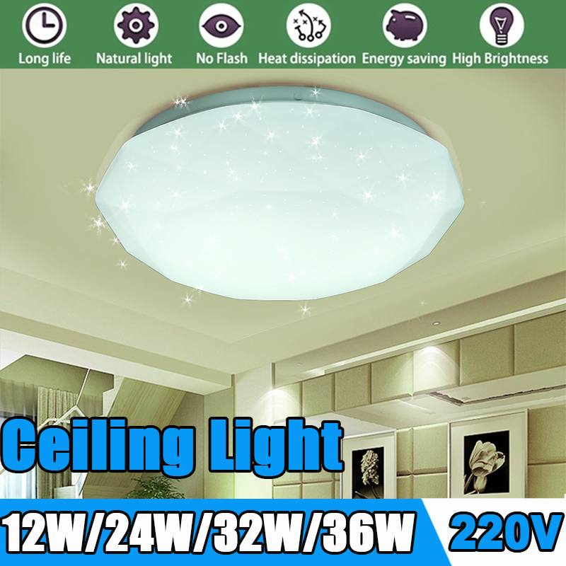 Ultra Thin LED Ceiling Lights 12/24/30/36W Modern Led Ceiling Lamps For Living Room Surface Mounted Led Ceiling Lighting