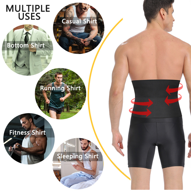 Men's  Waist Trainer Body Shaper Belt Gym Slimming Corset Belly Abdomen Neoprene Sauna Belt Fat Burning Loss Sweat Shapewear 3