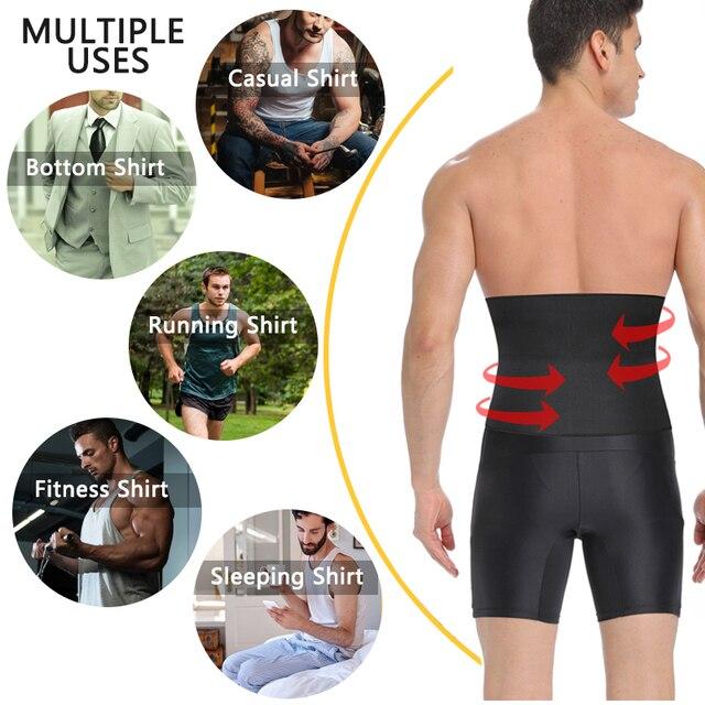 Sweat Waist Trainer Gym Belly Fat Burning Sauna Slimming Belt Shapewear Waist Cincher 3