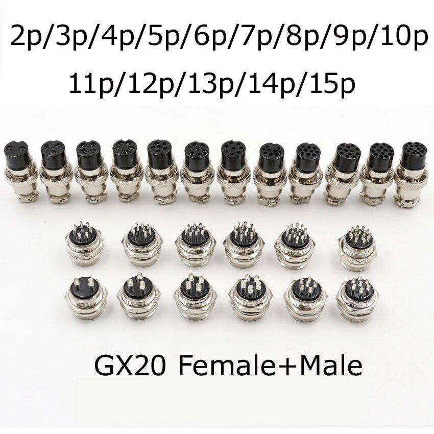 GX12-Conectores eléctricos hembra para dispositivos electrónicos, enchufe de Cable de aviación aérea, GX16, GX20, 2/3/4/5/6/7/8/9/10/12/14/15 Pines, nuevo
