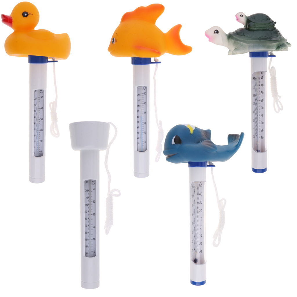Floating Pool Thermometer Water Temperature Thermometers With String, For Outdoor & Indoor Swimming Pools, Spas, Hot Tubs