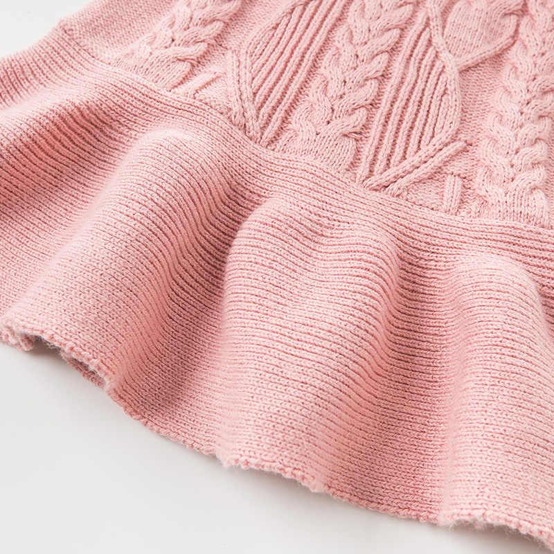 Dbm11125 데이브 벨라 가을 어린이 소녀 귀여운 활 솔리드 핑크 코트 어린이 패션 민소매 소녀 스웨터 조끼