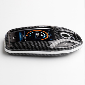 Image 5 - פחמן סיבי ABS מפתח מקרה מפתח פגז מרחוק מגן עבור BMW 6 7 סדרת 740 6 סדרת GT 5 530i x3 Keychain תיק אביזרי רכב