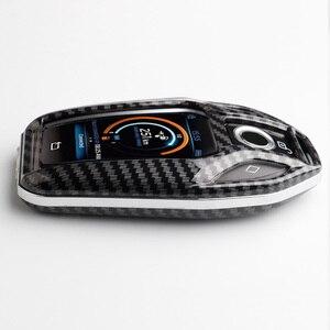 Image 5 - Чехол для ключей из углеродного волокна ABS, дистанционная Защита корпуса для ключей для BMW 6 7 серии 740 6 серии GT 5 530i X3, сумка для ключей, автомобильные аксессуары