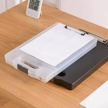A4 Classic Multifunctional File Folder Organizer Case Plastic Clipboard Storage Box Pen Holder School Office Supplies Stationery