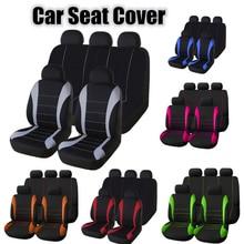 Auto kegan 2/4/9 pçs universal assento de carro cobre conjunto estilo automóvel acessórios interiores para fiat 500 passat b8 b5 g30 e46 b7 e39 b6