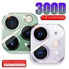 300d capa completa protetor de tela da câmera para o iphone 11 pro xr x xs max vidro temperado para o iphone 11 pro max lente película protetora