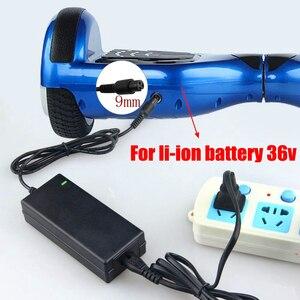 Image 2 - EU/US 42V 2A Charger Hoverboard Skateboard Charger 36V Li ion Battery Power Supply Adapter Self Balancing Scooter Charger 42V