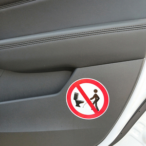 Image 3 - YJZT 11.5CM*11.5CM Warning NO Hit The Toilet Car Sticker PVC Decal 12 1469
