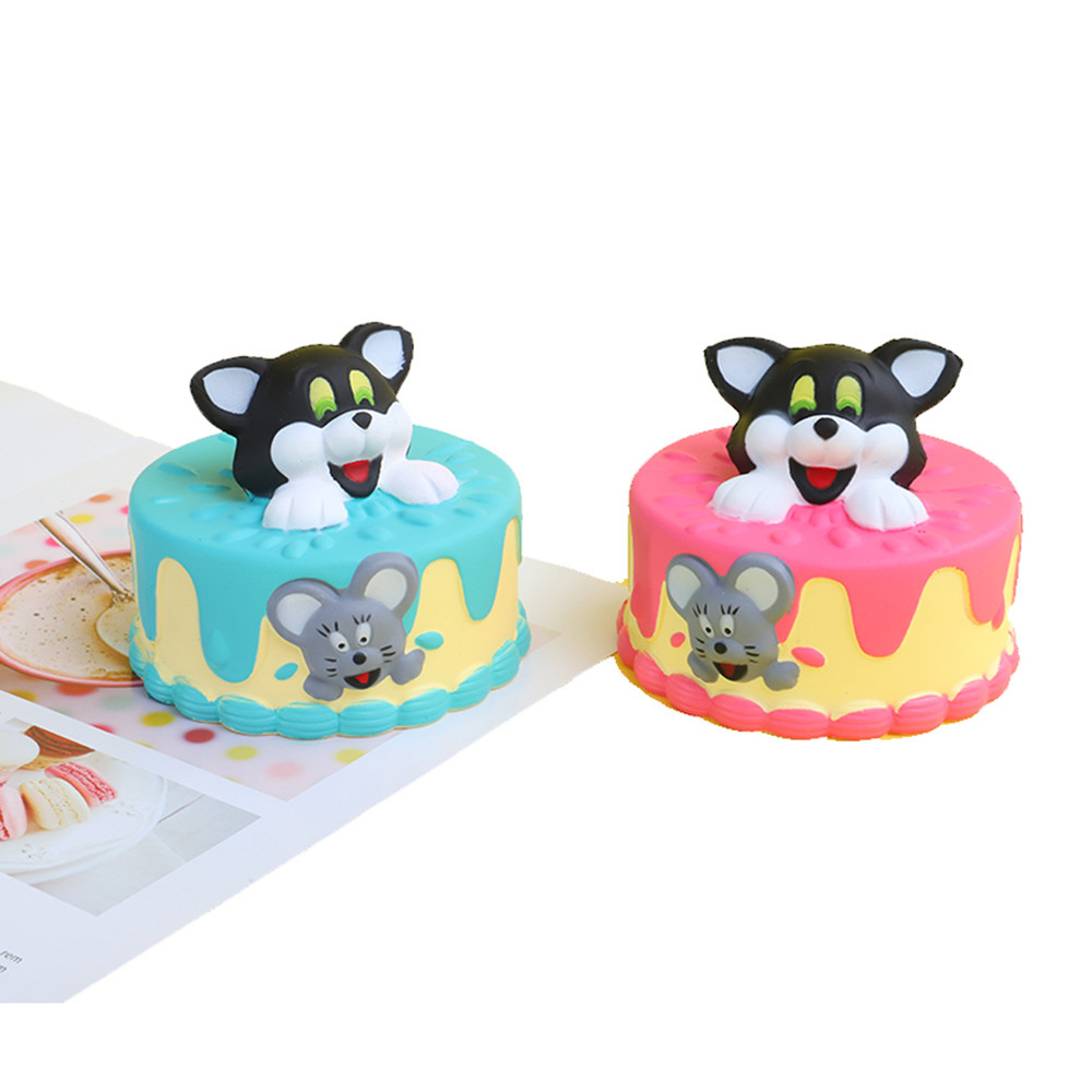 Simulation Of Slow Rebound Cat Cake Cute Decor Slow Rising Kid Squeeze Relieve Anxiet Gift  Stress Relief  Toys L107