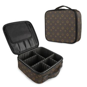 Słynna marka profesjonalna kosmetyczka kosmetyczka organizator do torby kobiety podróż makijaż przypadki duża pojemność kosmetyki walizki makijaż tanie i dobre opinie ALAZA Oxford CN (pochodzenie) 8 9inch Patchwork 3 6inch 9 8 in Sprawy kosmetyczne zipper Moda 625g A04H19008 cosmetic bag for make up