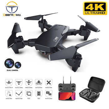 цена на 2020 NEW Rc Drone 4k HD Wide Angle Camera 1080P WiFi fpv Drone Dual Camera Quadcopter Real-time transmission Helicopter Toys