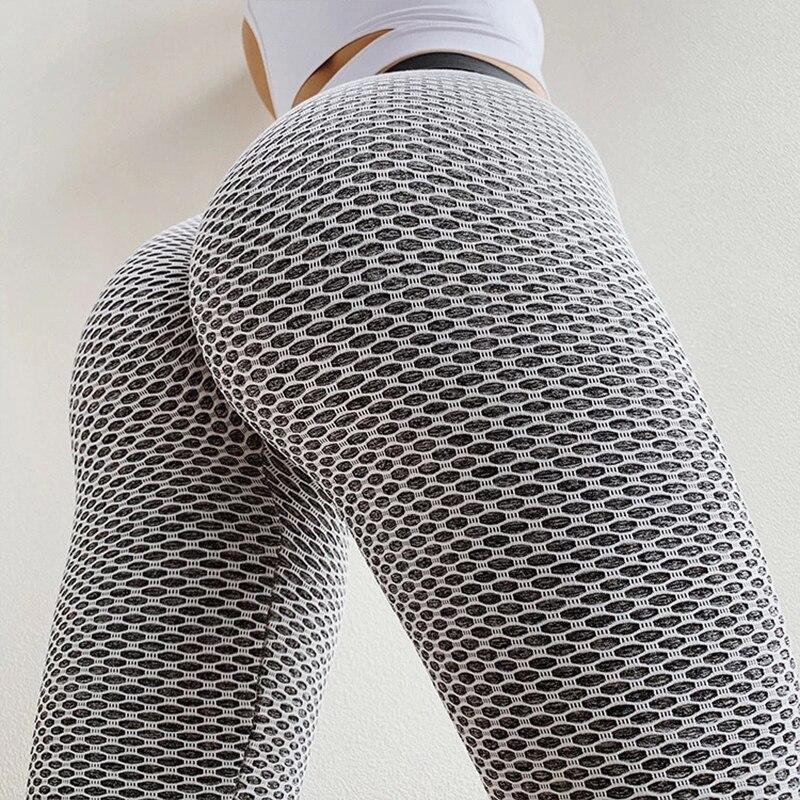 Бесшовные женские леггинсы для фитнеса и йоги с эффектом пуш-ап, леггинсы для фитнеса и тренировок с высокой талией, модные Лоскутные штаны ...