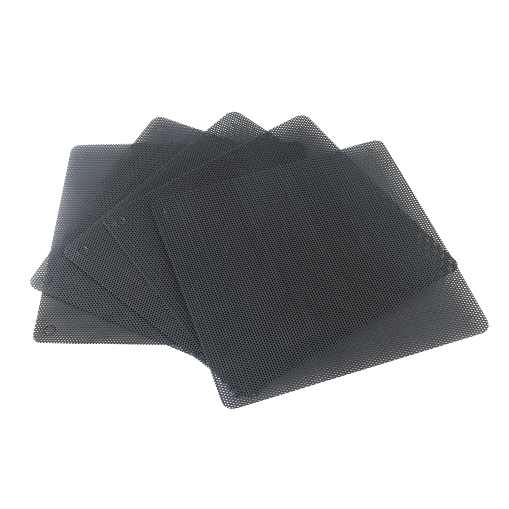5pcs  8cm 9cm 12cm 14cm Black Square Fan Filter PC Computer Mesh Dustproof Case Cover 80 90 120 140mm Fan Dust Filter Cooler