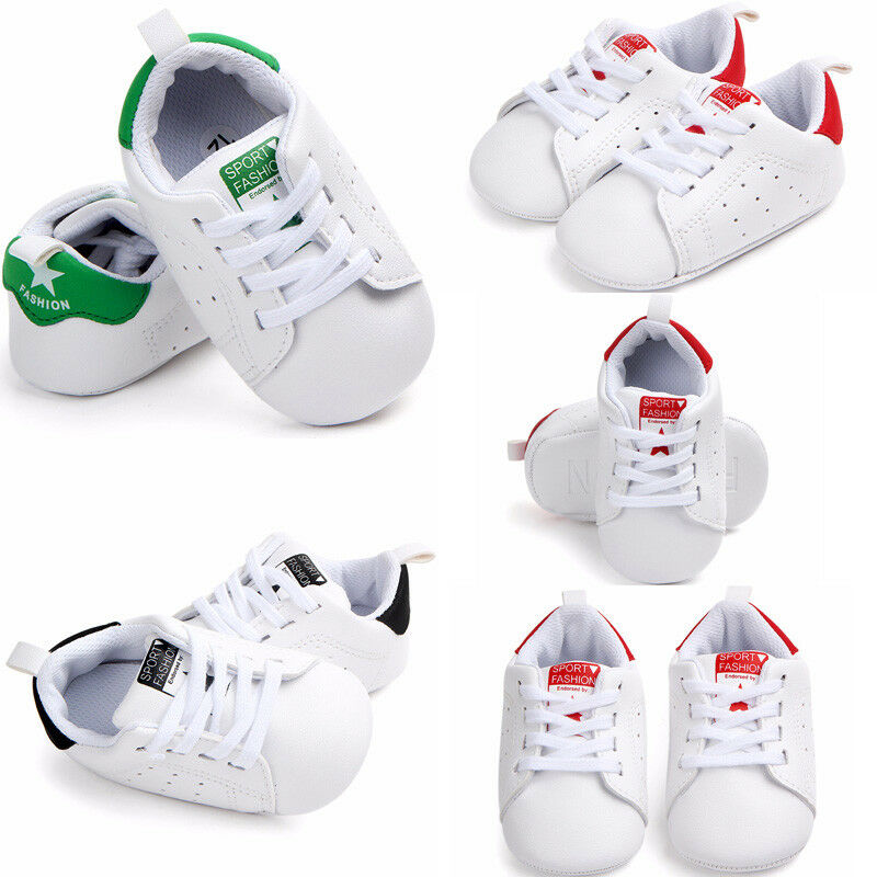 Toddler Baby 0-18M Shoes Newborn Boys Girls Soft Soled Crib Lace Up Shoes Prewalker
