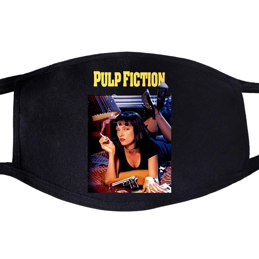 Pulp Fiction Mia Movie Vincent Leon Dustproof Mouth Face Mask Unisex Black Cycling Anti-Dust Facial Protective Cover Masks