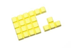Image 3 - Taihao Rubber Gaming Keycap Set Rubberen Doubleshot Cherry Mx Oem Profiel 22 Sleutel Magenta Paars Neon Groen Geel Licht Blauw