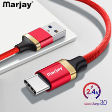 Marjay USB Type C Cable USB-C Mobile Phone Fast Charging Charger for Samsung S9 S10E Huawei Mate 20 Xiaomi Type-C