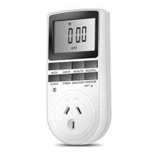 Electronic Digital Timer Switch EU AU UK Plug Kitchen Time Control Outlet 230V 240V 7 Day 12/24 Hour Programmable Timing Socket