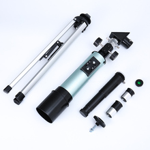 Refraction Astronomical Telescope Portable Tripod Sky Monocular For Outdoor Hunting Telescope Fixed Zoom wnnideo 90x portable astronomical refractor tabletop telescope 360x50mm for kids sky star gazing