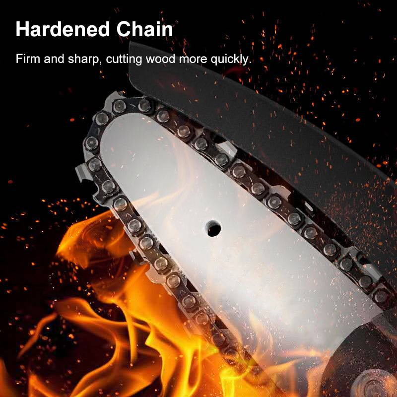 Tools : MUSTOOL 88V 1200W Electric Chain Saw Li-ion Battery Mini One-handed Pruning Garden Logging Saw Rechargeable Woodworking Tool