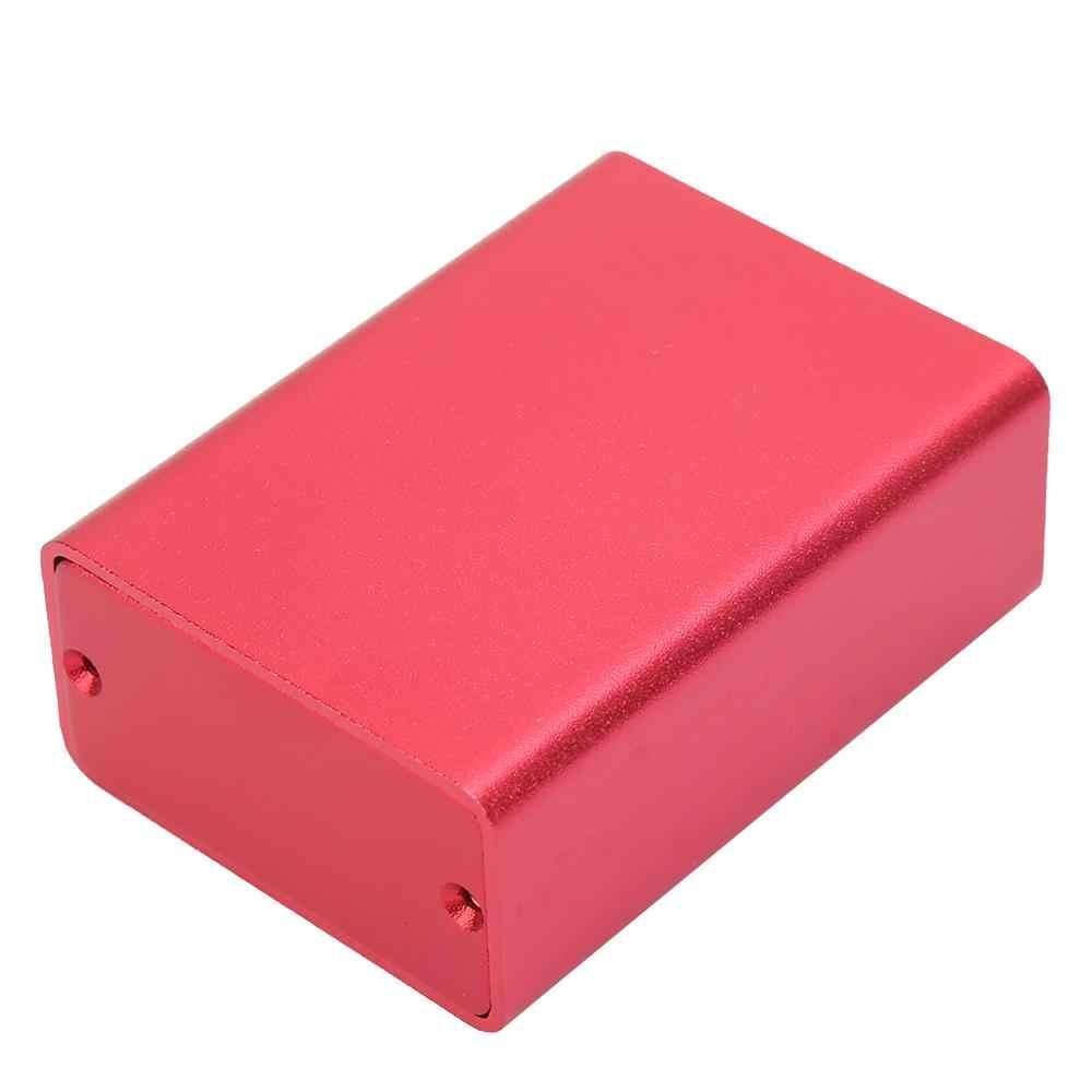 Extrudierten Aluminium Gehäuse PCB Instrument Elektronische Projekt Fall junction box DIY Gehäuse Gefrostet Rot 23x44x60mm