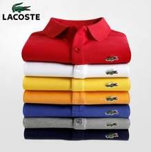 Marca de alta qualidade das mulheres dos homens camisa polo manga curta clássico homme roupas casuais 100% algodão luxo designer topos a02