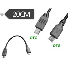 цена на Micro USB to Mini USB OTG Cable 20cm Male to Male Converter Adapter Data Charging Mini 5-pin USB Extension Cable