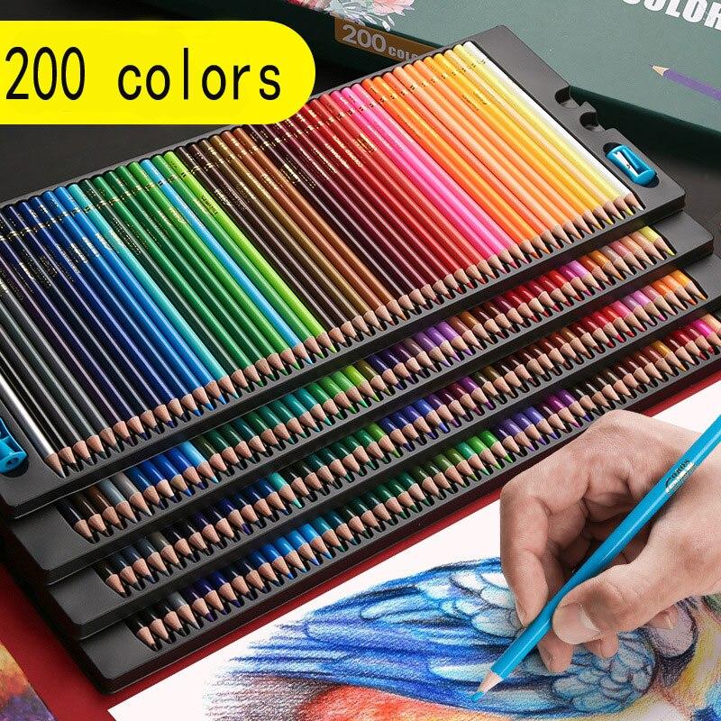 72/120/150/200 Цвет Набор цветных карандашей водорастворимые или жирной опционально для школы искусство рисования и эскизов Специальный каранда...