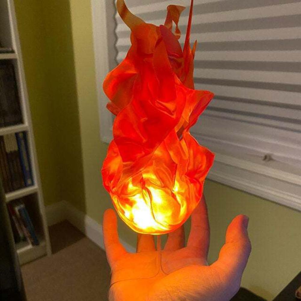 Halloween decoração de casa luminosa flutuante fireball