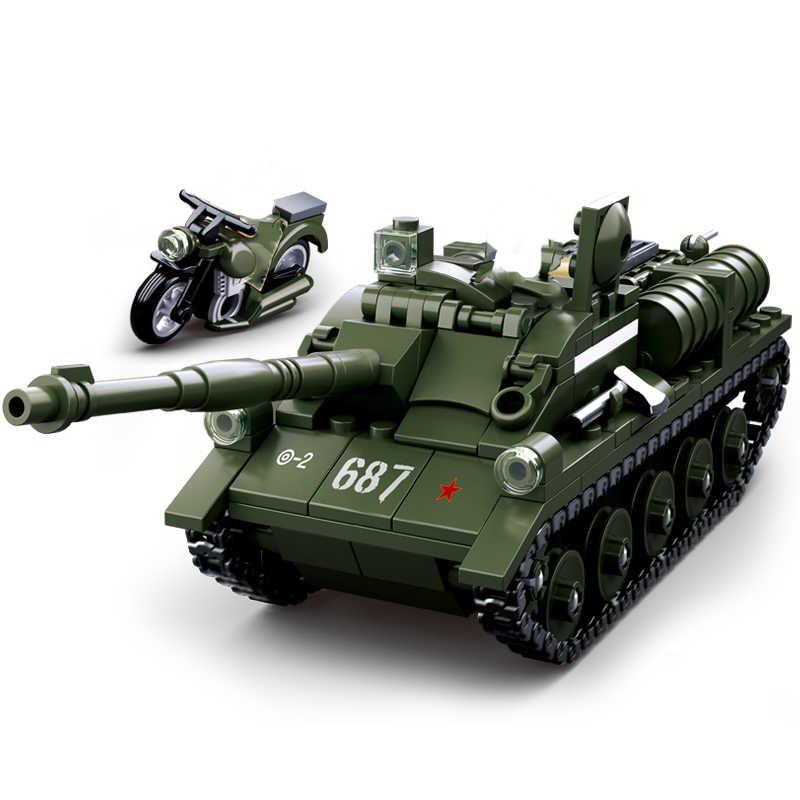 Military waffe kompatibel legoing ww2 tank T34 flugzeug flugzeug weltkrieg 2 lkw armee auto soldaten bausteine kinder spielzeug