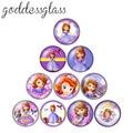 Disney платье принцессы Софии; Подарок для девочек 10 шт. 12 мм/18 мм/20 мм/25 мм кабошоны круглые фото кабошоны разрисованные изделия из стекла с пло...