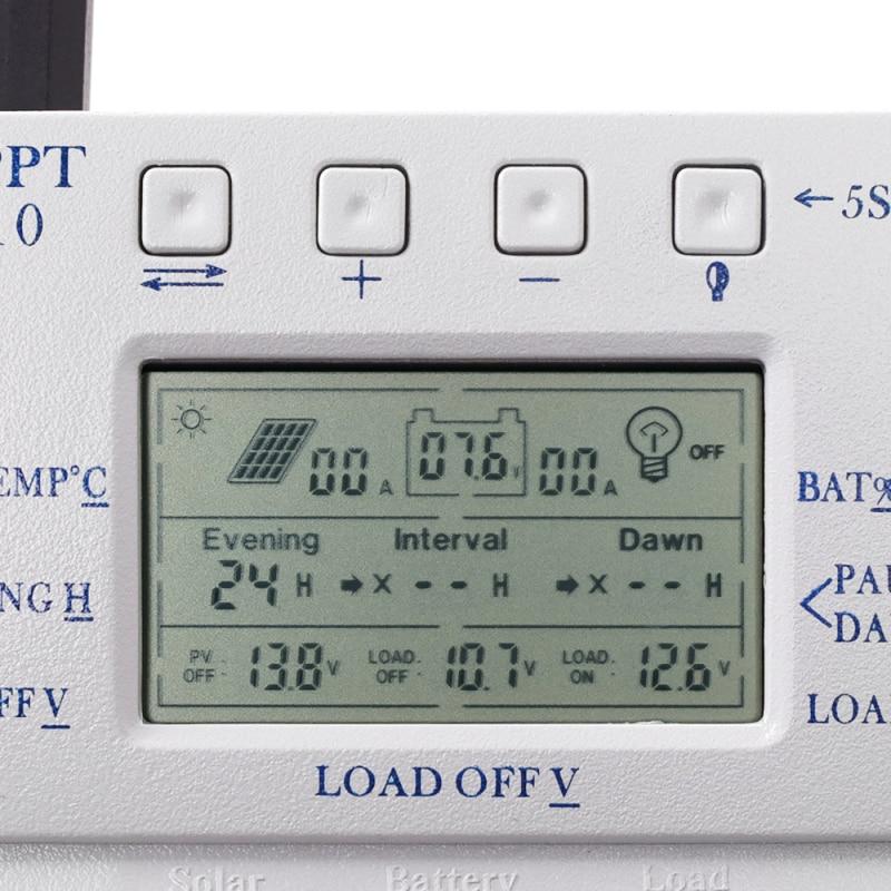 30% sensor de temperatura luz bateria solar