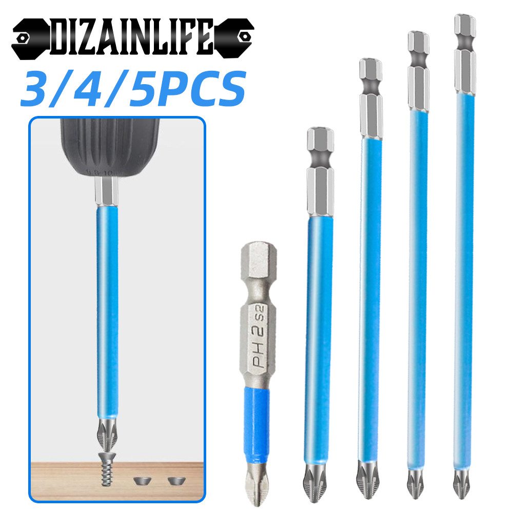 70/90/127/150mm PH2 Cross Bit Drill Head Screwdriver Bits Hand Tools Anti Slip Electric Hex Shank Magnetic Screwdriver Drill Bit
