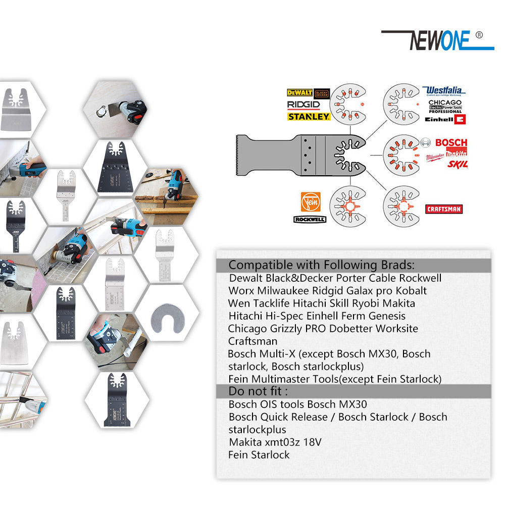 NEWONE 66PC snelwisselend oscillerend zaagblad in elektrisch - Zaagbladen - Foto 3