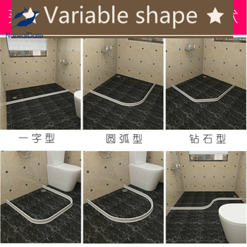 Bathroom Water Stopper Flood Barrier Rubber Dam Silicon Water Blocker Dry and Wet Separation Home Improve Dropshiping 2021