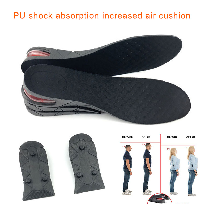 1 Pair Height Increase Insole Cushion Lift Adjustable Cut Shoe Heel Insert Taller Shock Arch Support Absorbant Foot Pad H66