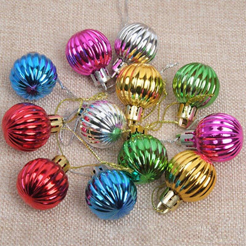 12 teile/los Weihnachten Baum Ball Flitter Hängen Ornament Dekorationen Home Party Urlaub Glitter Weihnachten Baum Anhänger Bälle